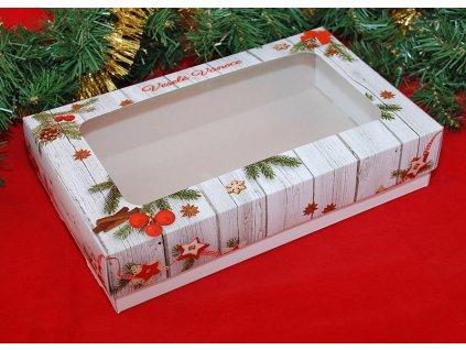 Krabice na cukroví Veselé Vánoce