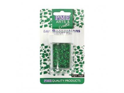 Jedlé třpytky zelené PME