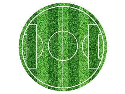 Fondánový obrázek fotbalové hřiště, kruh