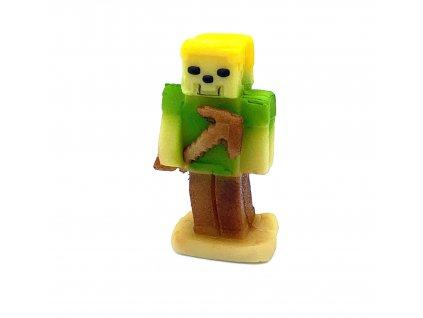 Marcipánová figurka Stavitel zelený