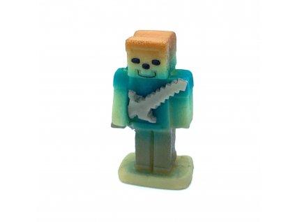Marcipánová figurka Stavitel modrý