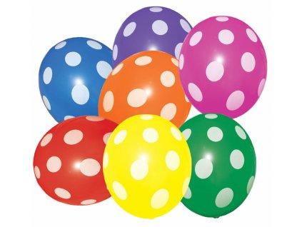 Balónky Barevné s puntíky 7ks