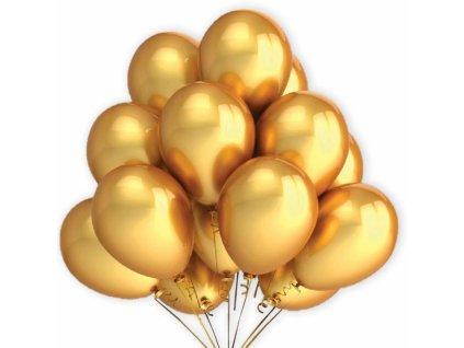 Balónky Zlaté metalické 7ks