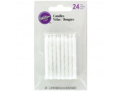 Wilton Dortové svíčky bílé 24ks