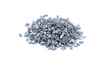 Čokoládové plátky stříbrné 50g