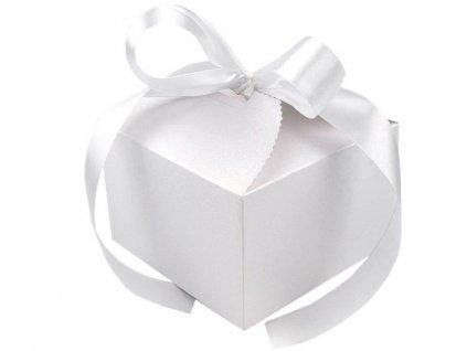 Krabička na svatební koláčky se stuhou