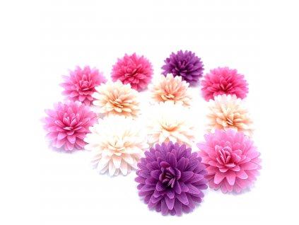 Jedlý papír 3D barevné květy 12ks