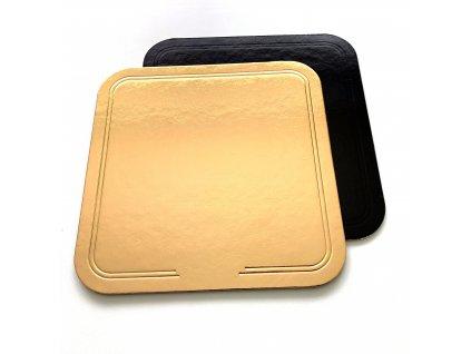 Tác kartonový zlato černý 28x28cm