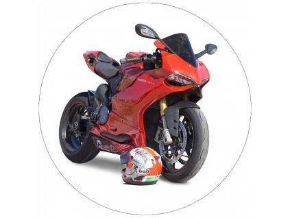 Jedlý papír červená motorka
