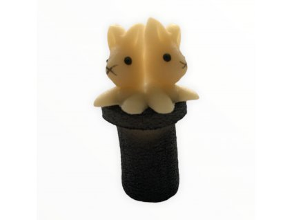 Marcipánová figurka Zajíci v cylindru