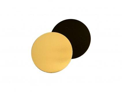 Dortová podložka zlato černá 12cm