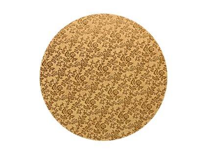 Zlatý tác Modecor, kruh 30cm