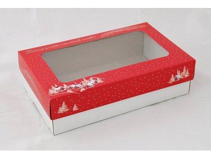 Krabice na cukroví Vánoční chaloupky