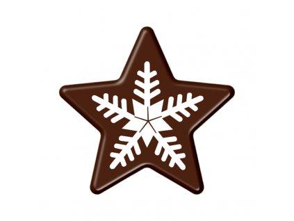 Balení Čokoládová dekorace Vánoční hvězda 84ks
