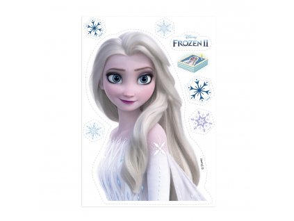 Jedlý papír Frozen Elsa silueta