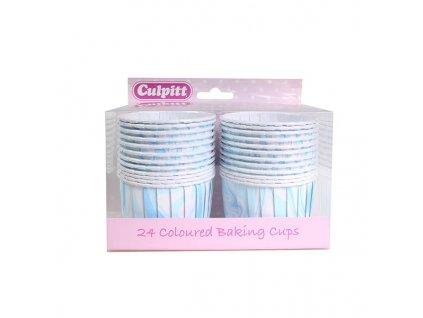 Košíčky na muffiny pevné Modro bílé