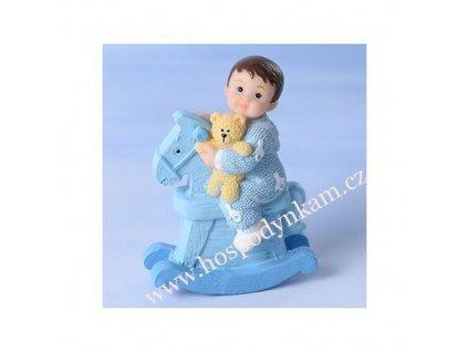 Figurka na dort - chlapeček na koníkovi