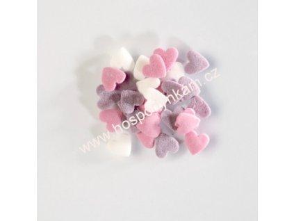 Cukrové zdobení - barevná srdíčka 30g
