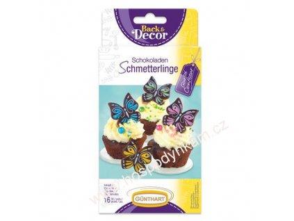 Čokoládová dekorace Motýli 16ks