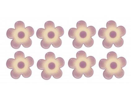 Čokoládová dekorace Kytičky fialové 6ks