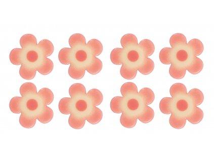 Čokoládová dekorace Kytičky růžové 6ks
