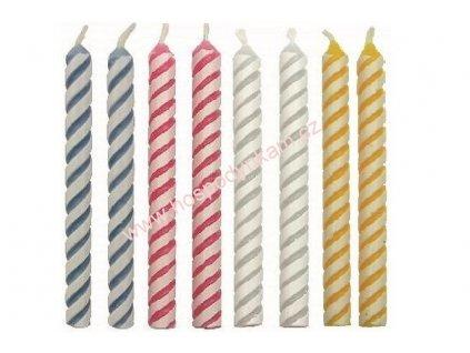 Dortové svíčky PME mix barev 24ks