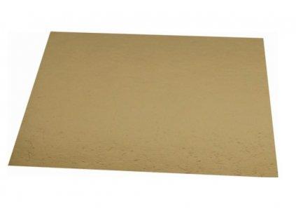 Tác na dort kartonový zlatý 25x25cm