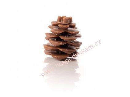 Čokoládová dekorace Borová šiška 1ks