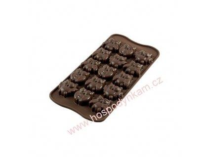 Silikonová forma na čokoládu Gufi
