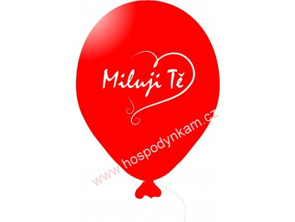 Balónky červené s nápisem Miluji Tě