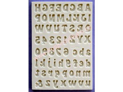 Silikonová forma na marcipán - abeceda a čísla Fun Font