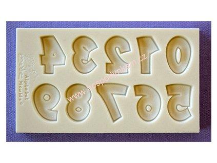 Silikonová forma na marcipán - čísla Party Font