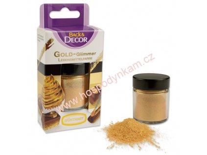 Jedlá barva - zlatý prach 7g