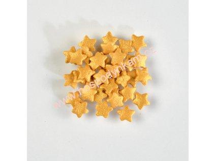 Cukrové zdobení - hvězdičky zlaté 30g