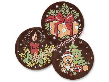 Čokoládová dekorace Vánoce 10ks