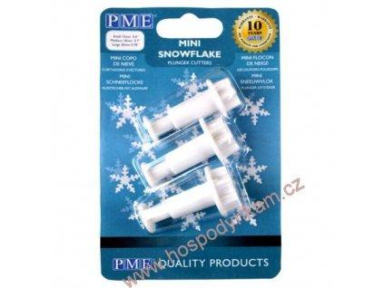 Pístový vypichovač PME sněhové vločky mini 3ks