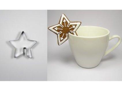 Nerezové vykrajovátko Hvězda na hrnek