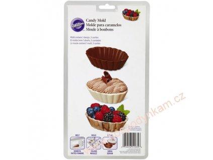 Forma na čokoládu - oválné košíčky