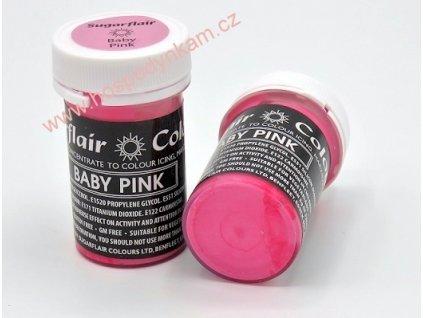 Gelová barva Sugarflair Baby Pink