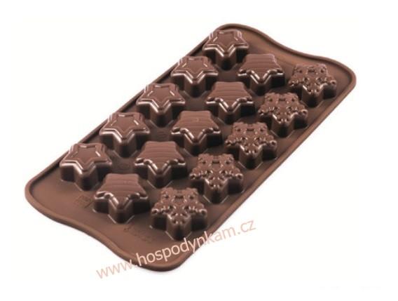 Silikomart Silikonová forma na čokoládu Winter Star