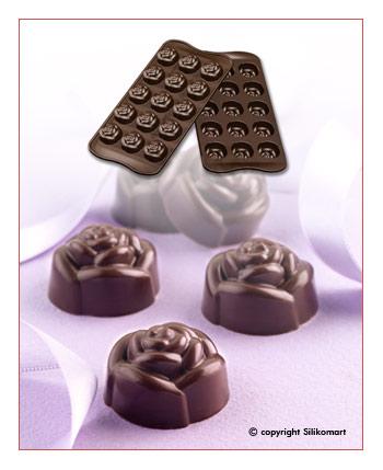 Silikomart Silikonová forma na čokoládu Rose