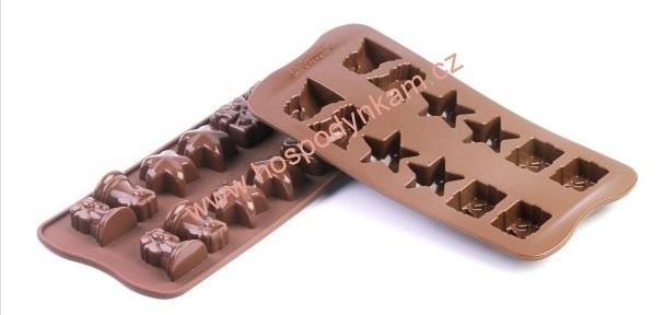 Silikomart Silikonová forma na čokoládu Christmas