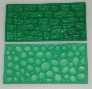Otiskovací podložka - dlažební kostky a kamenná zeď