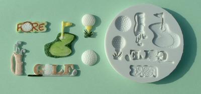 Silikonová forma na marcipán - golf