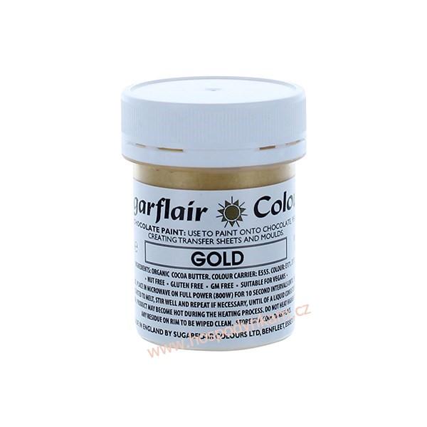 Barva na čokoládu Zlatá perleťová 35g