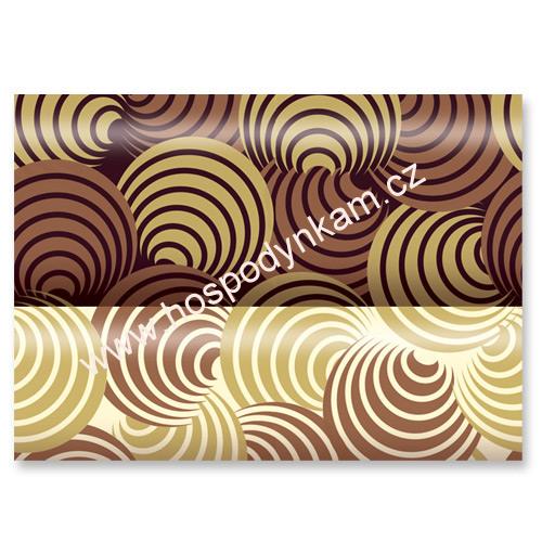 Transfer fólie na čokoládu - kruhy