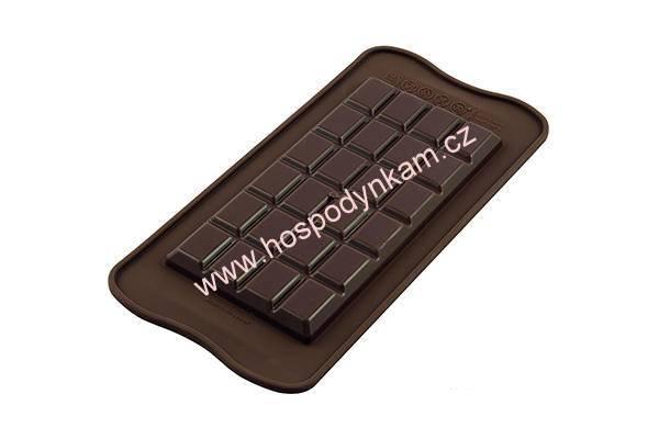 Silikonová forma na čokoládu Silikomart - tabulka čokolády