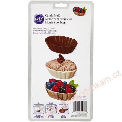 Wilton Forma na čokoládu - oválné košíčky
