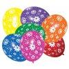 Balónky Barevné s květinami 7ks