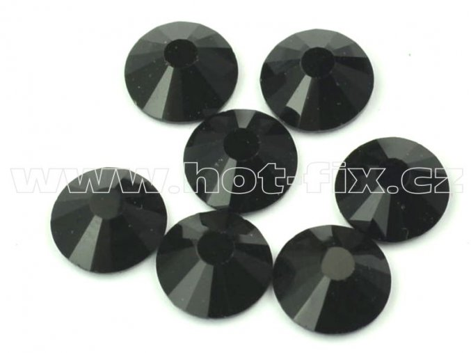 celobroušené hot-fix kameny Premium barva 124 Jet, velikost SS30, balení 144ks, 720ks nebo 1440ks